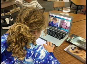Students in Julie Wilson's fifth grade class at Crestwood Elementary partnered with Luther College education students in a semester-long online writing project.